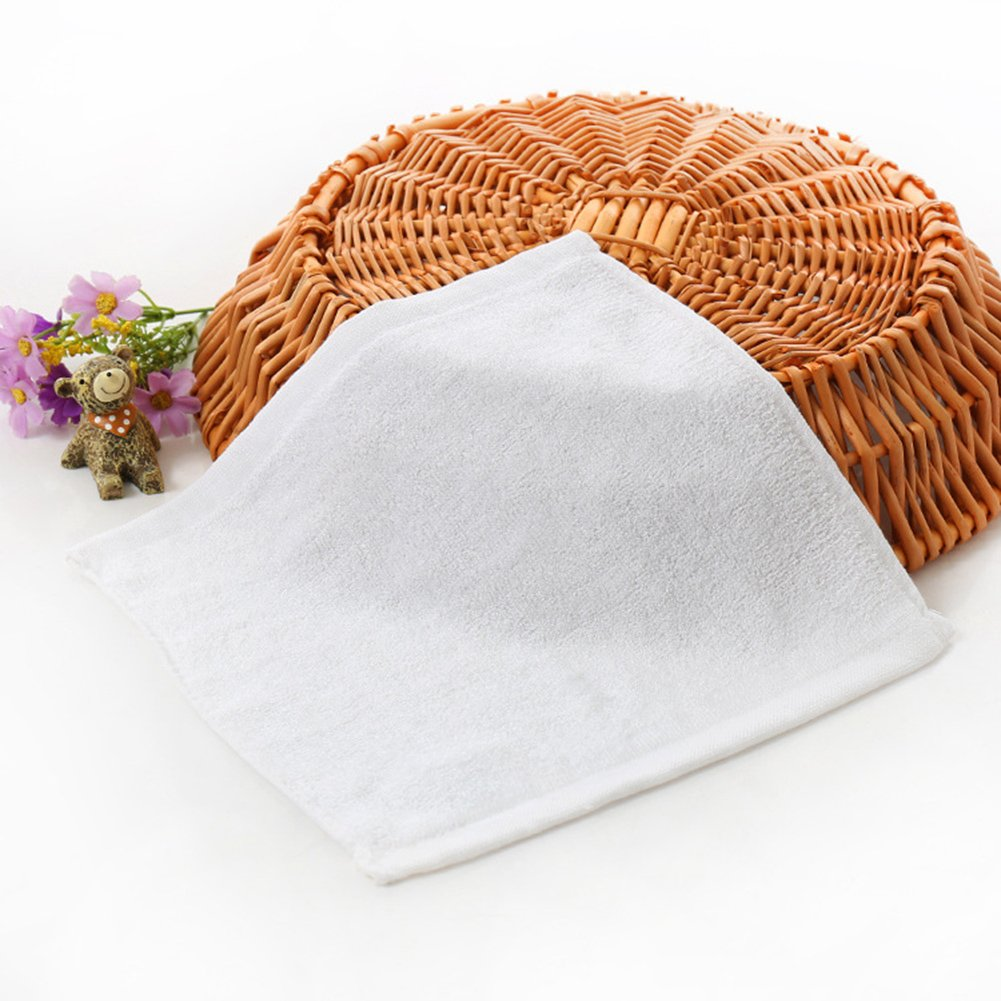 Amarillo Kanggest Peque/ña Toalla de Beb/és del Fibra de Bambu para Babas Baberos de Toalla de Saliva Toalla para Ni/ños Limpiar las Manos Toalla de Limpieza de Cocina 25*25CM