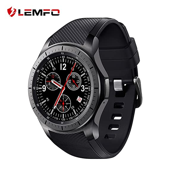 ⌚ LEMFO LF16 Bluetooth Smart Watch Phone with WiFi GPS 3G WCDMA Android Smartwatch Wristwatch Wearable Devices (Gray and Black)
