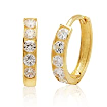 14k Cubic Zirconia Baby Hoop Earrings