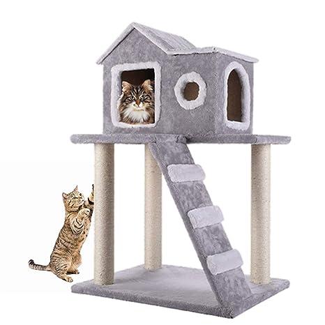 Amazon.com: CO-Z - Torre de árbol de gato con escalera y ...