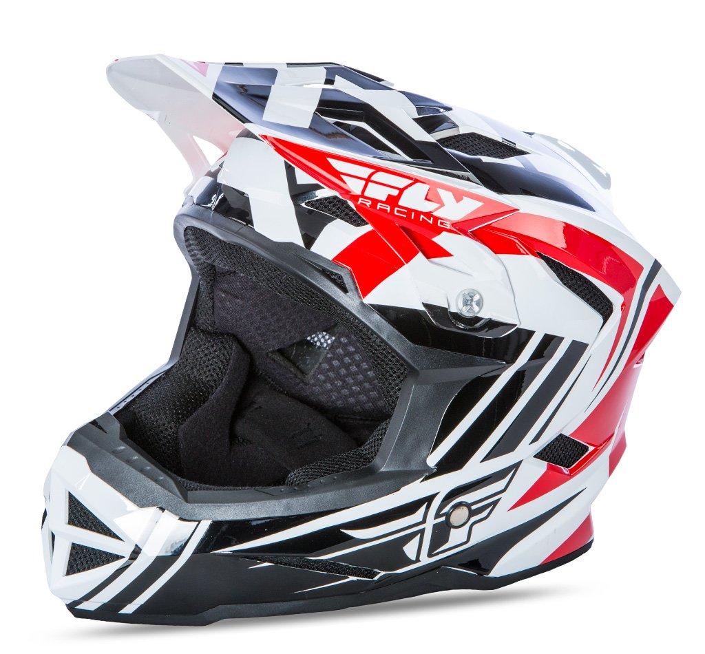Fly 2017 Bike Standard MTB DOWNHILL BMX Full Face Youth Helm rot schwarz weiß