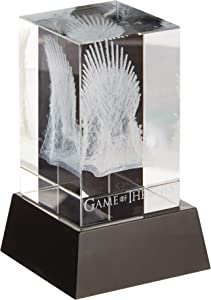Dark Horse Comics Juego de Tronos Bloc de Cristal cubique 3D LED Iron Throne 8 cm