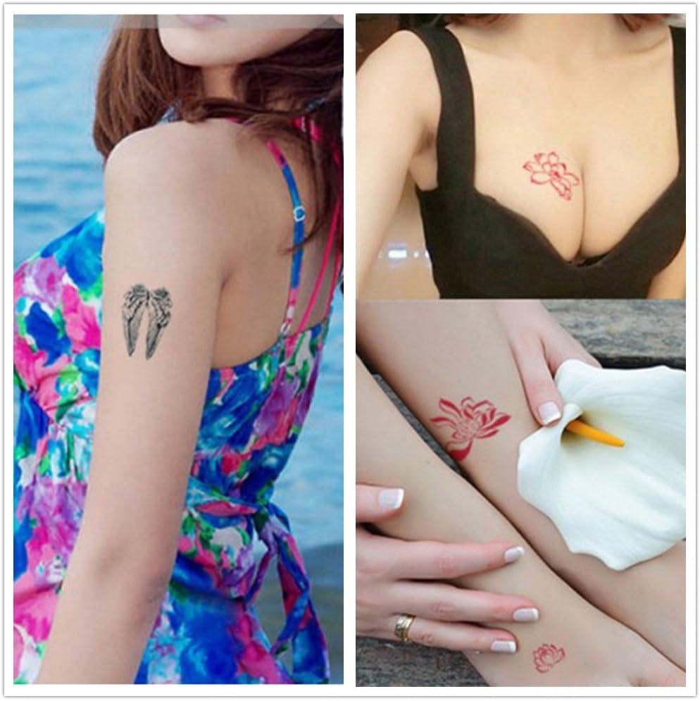 Oottati 36 Hojas Pequeño Lindo Tatuaje Temporal Ciervo Lotus ...