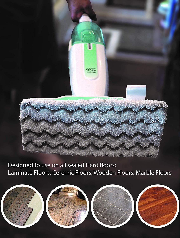 FollowHeart 6 Packs Dirt Grip Microfiber Pads Replacement for Shark Steam Mop S1000 S1000A S1000C S1000WM S1001C Vacuum Cleaners