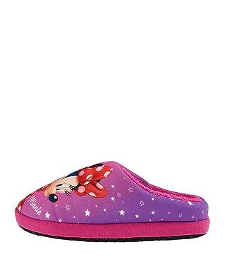 9c120626a Disney Minnie Chicas Pantuflas - malva - 29 30  Amazon.es  Ropa y accesorios