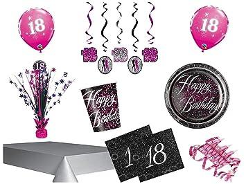 Party Set Decorativo 18 Cumpleaños 62 piezas 18 personas ...