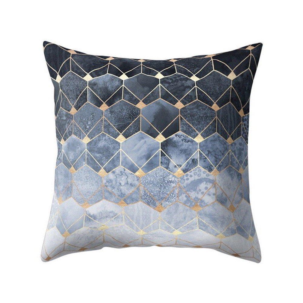 Chenway Geometric Design Throw Pillow Case,Zipper Square Pillowslip Waist Cushion Decoration CaseCover for Sofa Livingroom Home Decor (A)