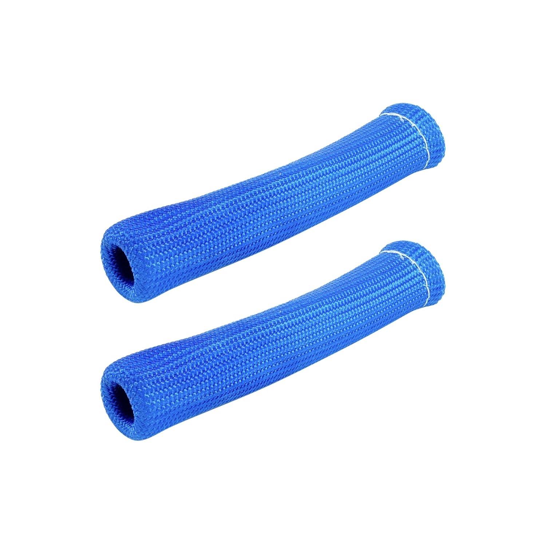 2/x la chaleur tube de protection Bougie dallumage Prise C/âble Fibre Protection Turbo Chargeur Bleu