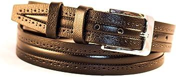 Eg-Fashion Herren Anzug Gürtel in 3,2 cm Breite aus Leder - Geprägter Business Gürtel - Individuell kürzbar