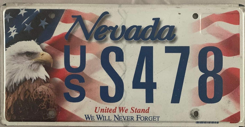 MNUT Plaque dimmatriculation am/éricaine Authentique Nevada United We Stand Plaque dimmatriculation 15,2 x 30,5 cm