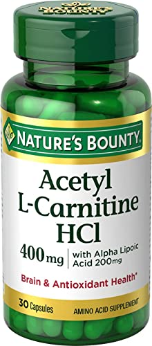 Nature s Bounty L-Carnitine 400 mg ALA 200 mg, 30 Capsules