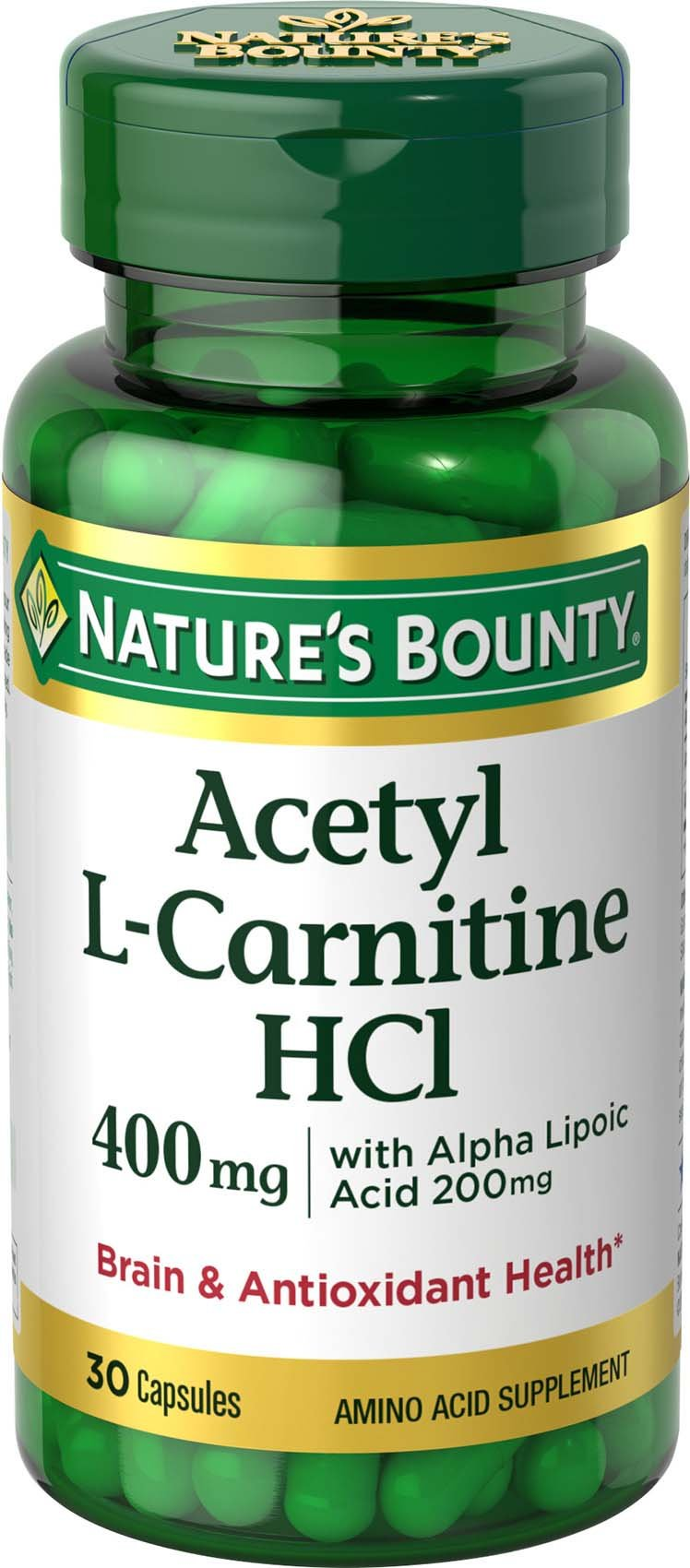 Nature's Bounty® L-Carnitine 400 mg & ALA 200 mg, 30 Capsules