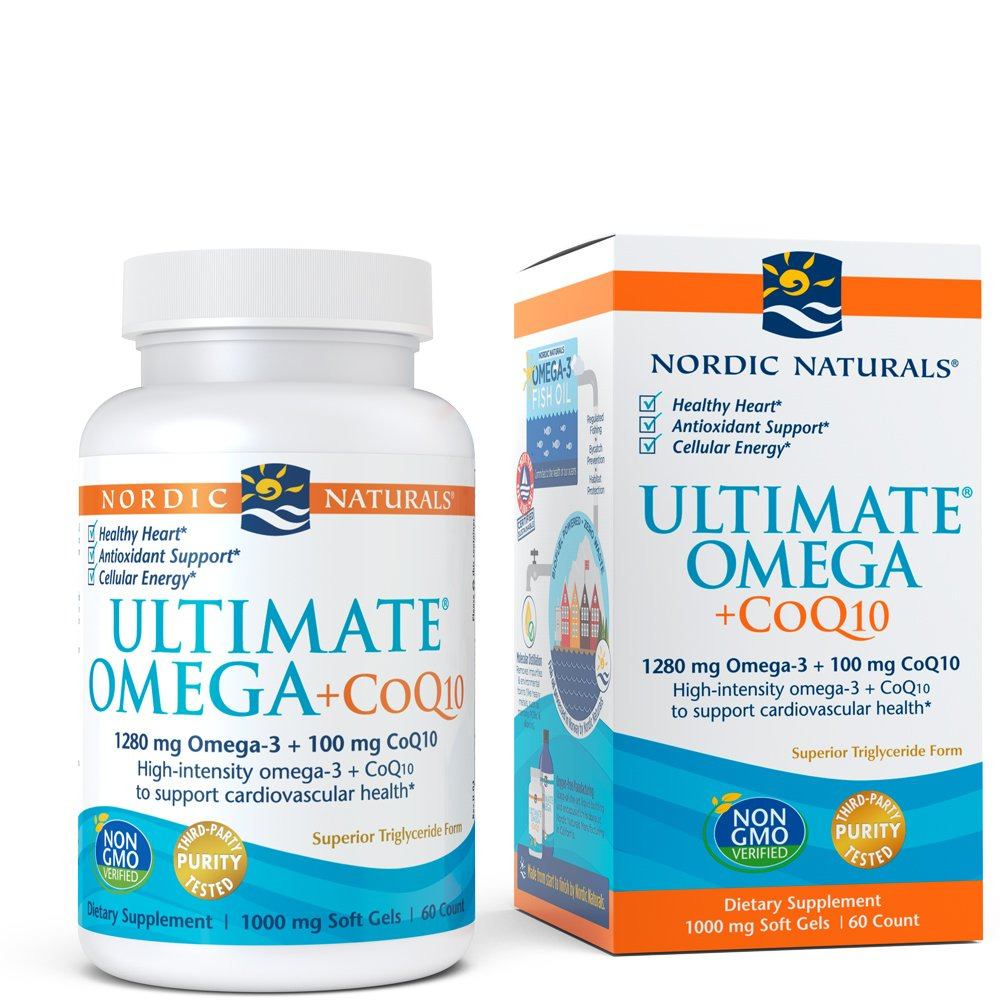 Nordic Naturals - Ultimate Omega +CoQ10, Support for the Heart's Overall Energy Needs, 60 Count by Nordic Naturals