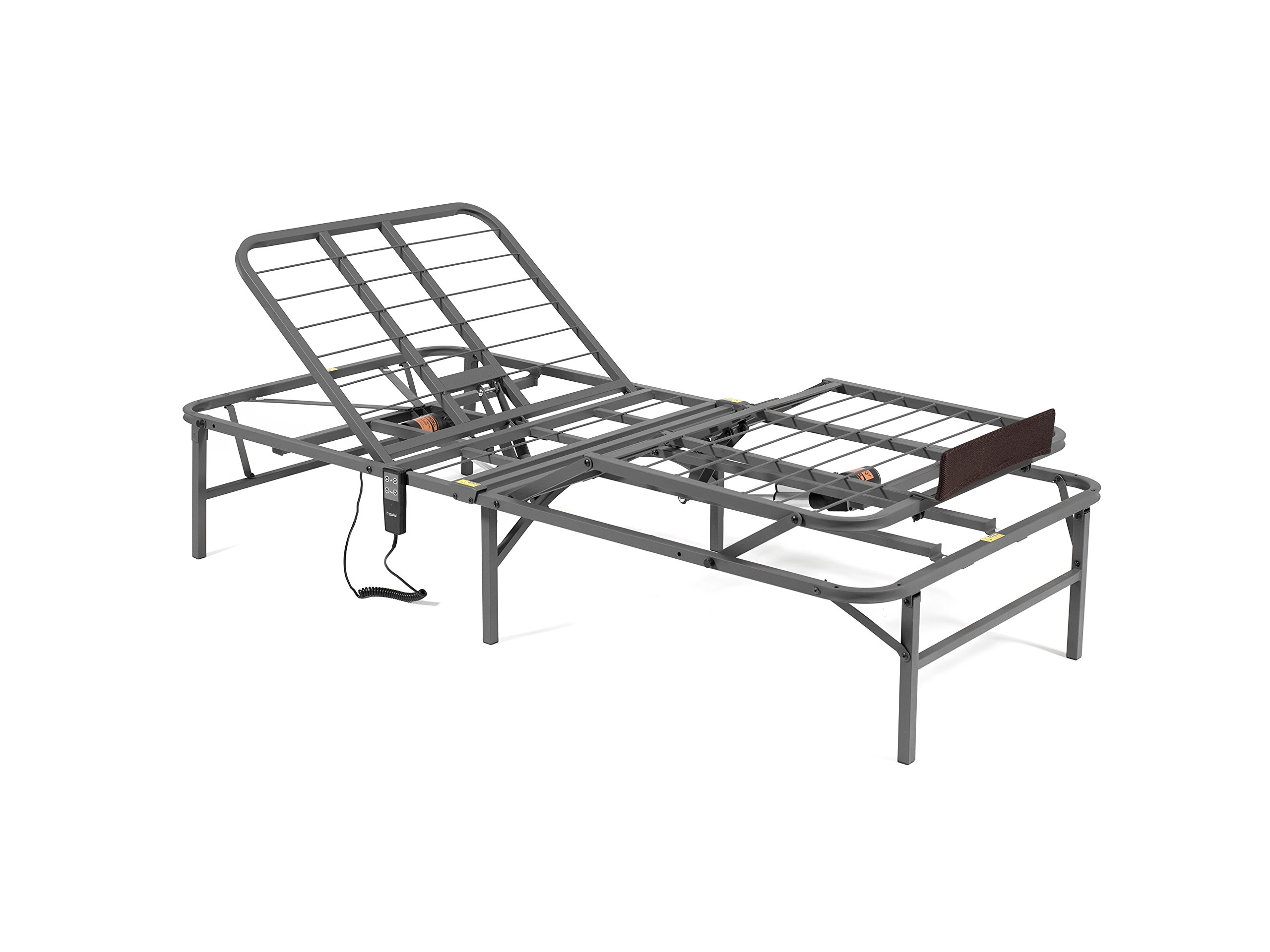 PragmaBed Pragmatic Adjustable Bed Frame, Head and Foot, Twin X-Large, Gray by PragmaBed