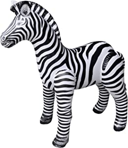 Jet Creations Zebra Inflatable Plush Stuffed Animal. Gifts for Kids, Party Decorations, Plush Toy. 32 inch Tall. an-ZEB3