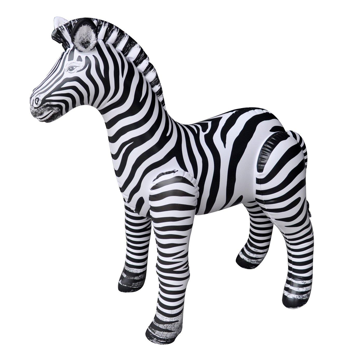 "Jet Creations Inflatable Zebra, 32"" Stuffed Animals"