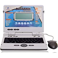TRYSTAR SP Enterprise 30 Fun Activities & Games Fun Laptop Notebook Computer Toy for Kids Educational Kids 30 Fun Activities with Music Keyboard Blue-Grey_Include Mouse