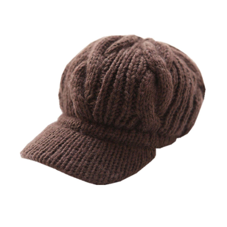 Locomo Men Women Boy Girl Slouchy Cabled Pattern Knit Beanie Crochet