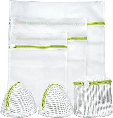 Filet à Linge Sac à Linge Sac à Lavage Avec Fermeture Eclair Pour Protéger Vos Vêtements(6 ensembles)