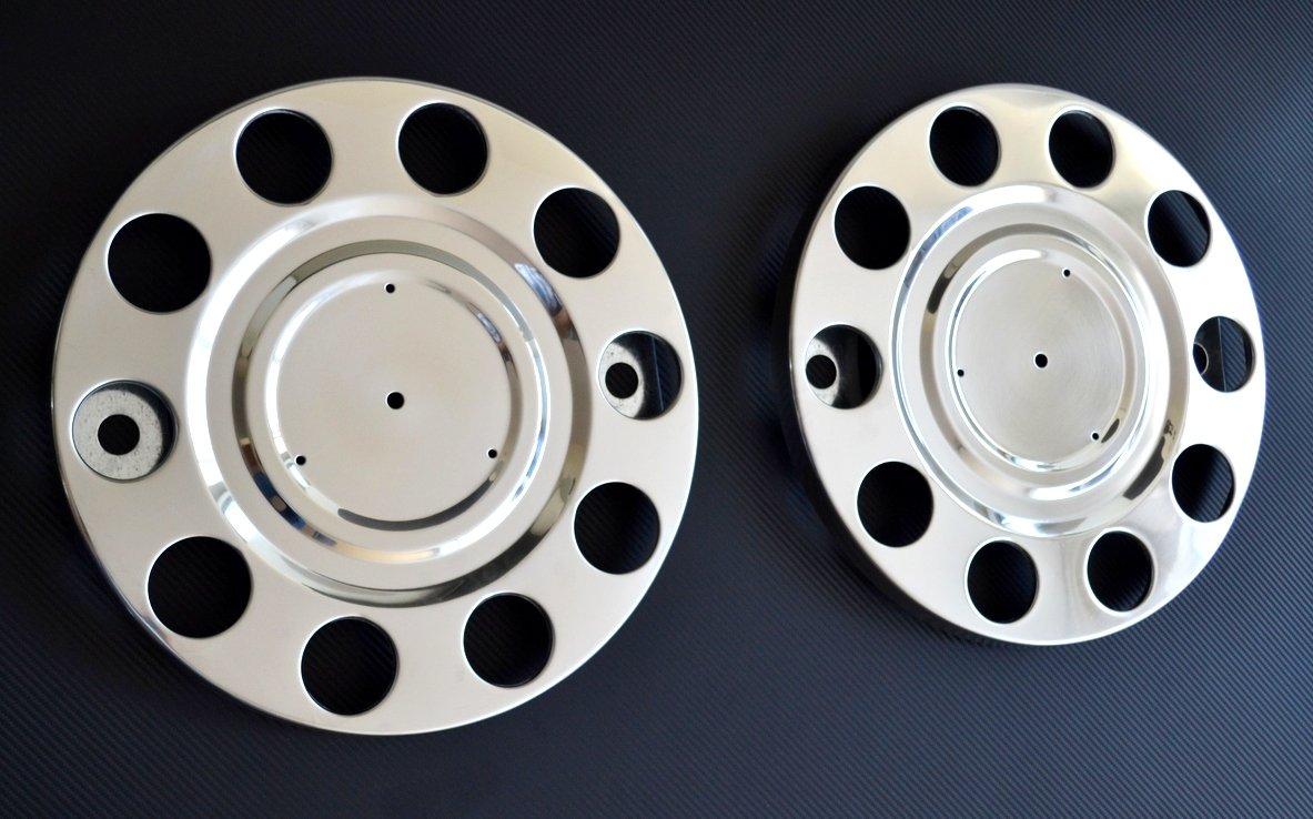 2 tapacubos de acero inoxidable 57,15 cm para 10 pernos, compatible con camiones Volvo, Man, Renault, Daf y Scania: Amazon.es: Coche y moto