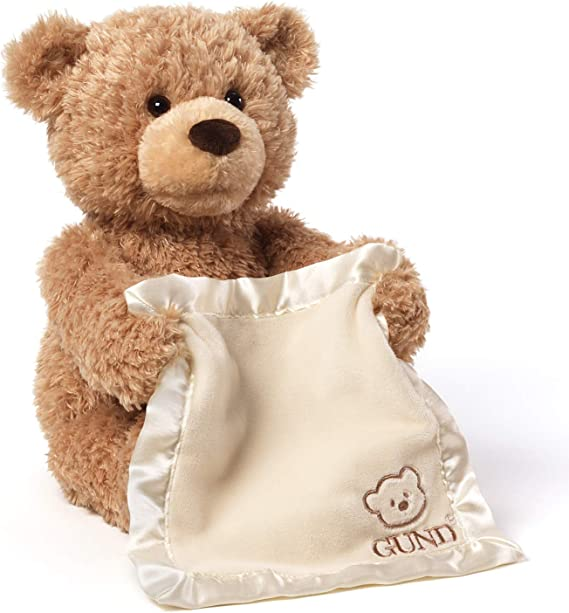 Personalized By Lijo Cream New Gund My First Teddy Peek a Boo