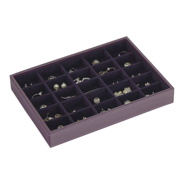 Stackers Purple & Purple Velvet Classic 25 Section jewelry box