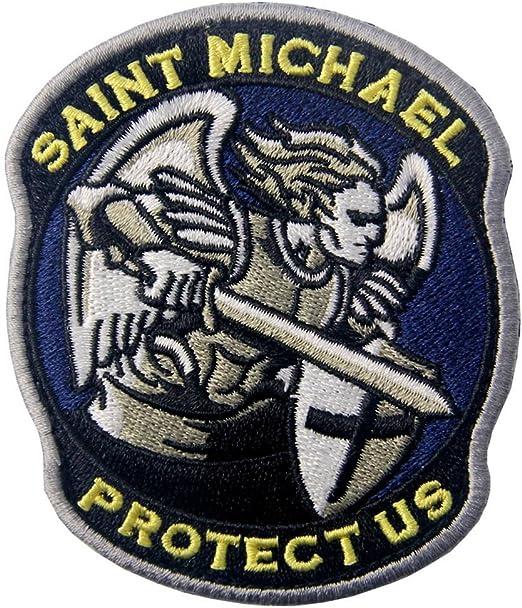 San Miguel nos protégé Táctico Militar moderno Broche Bordado de ...