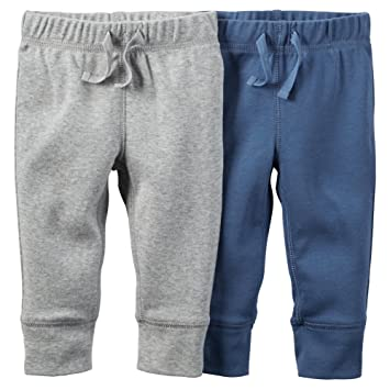 c4ffde61a Image Unavailable. Image not available for. Color: Carters Baby Boys 2-Pack  Pants Navy/Grey NB