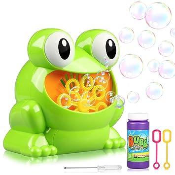Máquina de Burbujas, Joylink Portátil Máquina de Pombas Jabón para Niños y Adultos, Frog