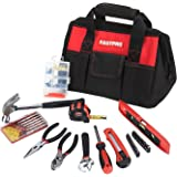 FASTPRO F00651 36-Piece Basic Home Tool Set with 12-inch Tool Bag, Include Pliers Set, Adjustable wrench, screwdirver set, spirit level, tape measure, hardware kits, hammer, snap-off knife