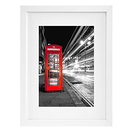 Amazon.com - 11x14 White Picture Frame - Made to Display Pictures ...
