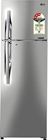 LG 335 L 3 Star Frost Free Double Door Refrigerator(GL-C372RPZU.DPZZEBN, Shiny Steel, Inverter Compressor)