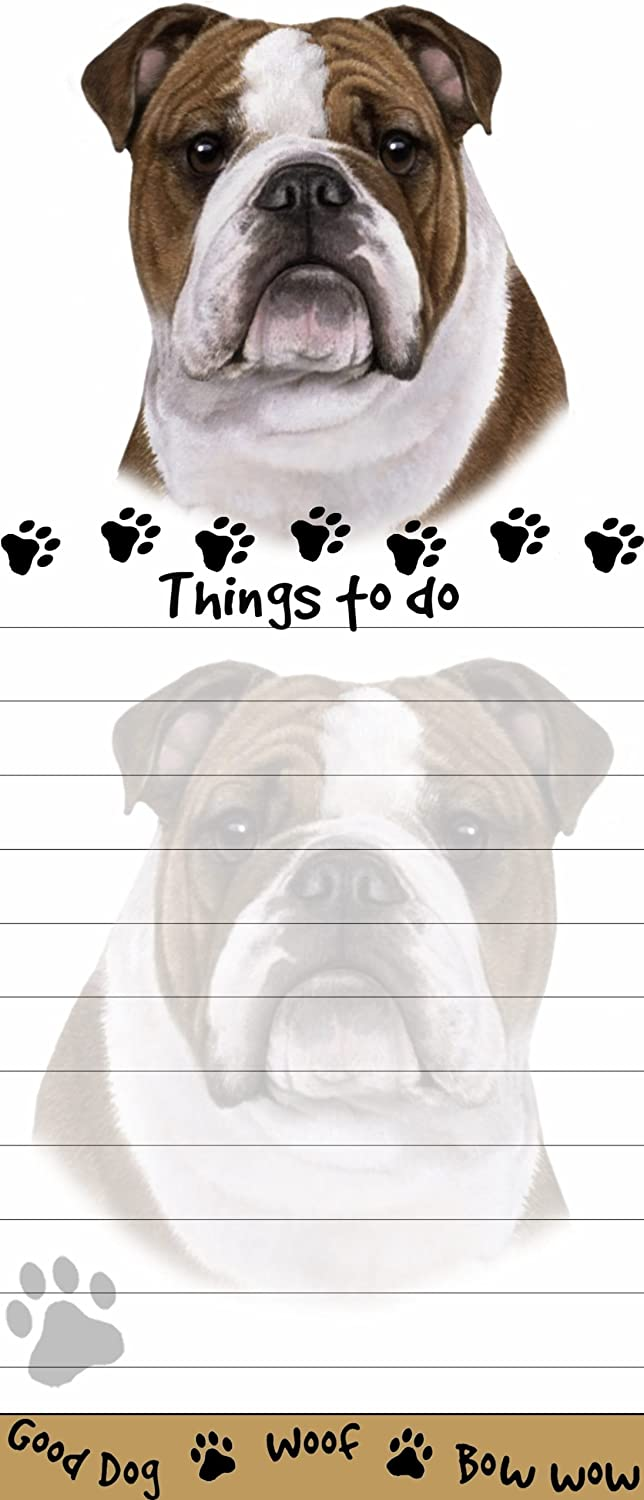 Bulldog Magnetic List Pads Uniquely Shaped Sticky Notepad Measures 8.5 by 3.5 Inches