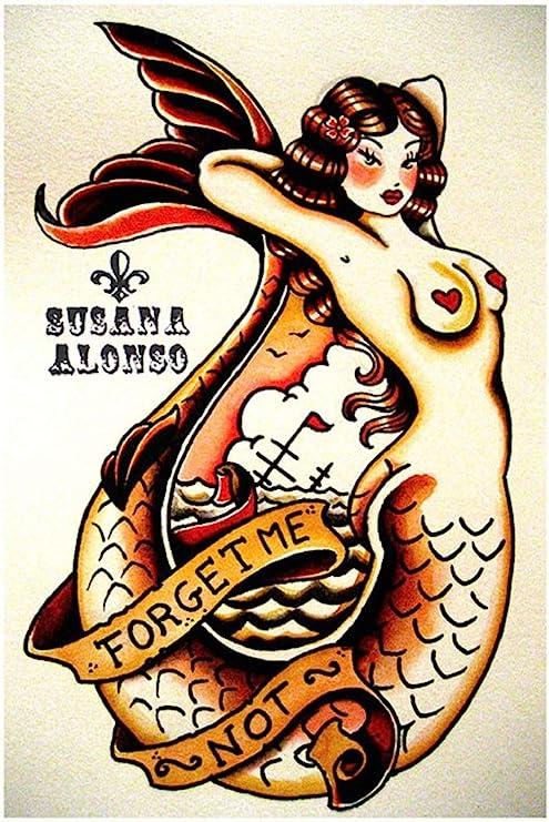 Forget Me Not de Susana Alonso Nude Pin Up tatuaje de sirena con ...