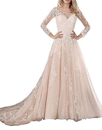 Illusion Wedding Dresses with Sleeves