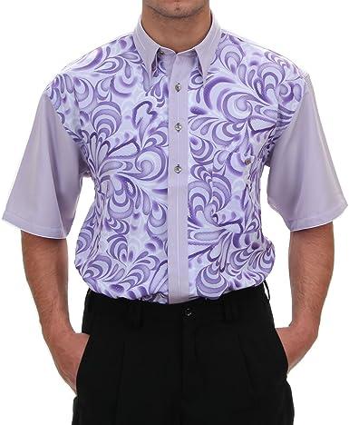 Designer Camisa En Lila/estampado, para hombre mejor calidad ...