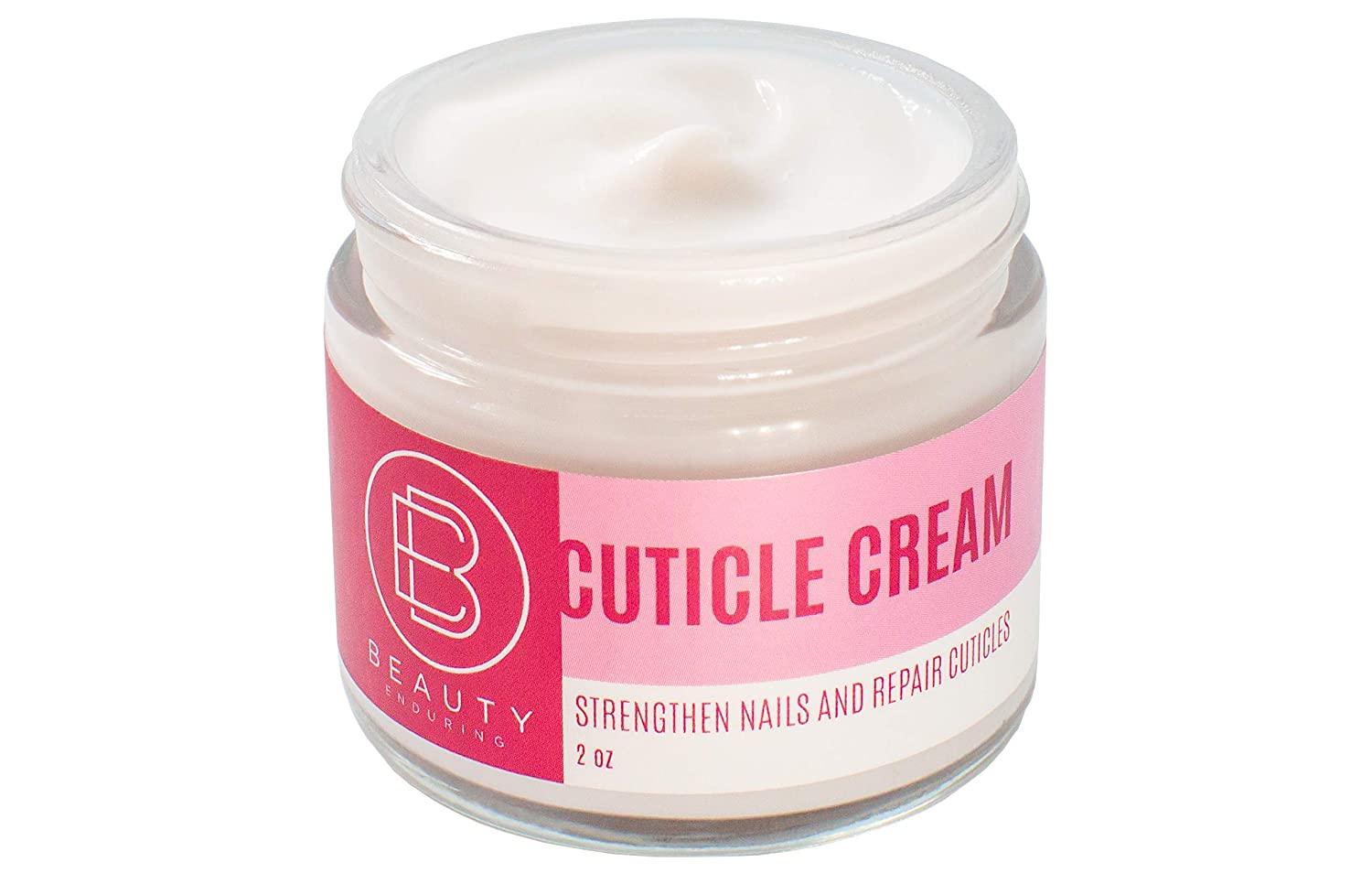 Cuticle Cream and Nail Strengthener by Beauty Enduring (2oz) - Repairing Nail Cream and Hand Cream Moisturizer, Natural Nail Growth and Strengthener - Nail Care and Pedicure Foot Care: Beauty