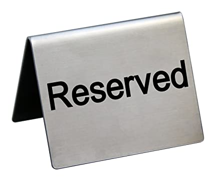 Amazoncom New Star Foodservice RESERVED Table Tent Sign - Table tent signs