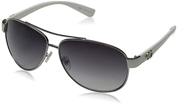 womens designer aviator sunglasses  Amazon.com: CG Eyewear Metal Aviator Womens Fashion Silver White ...