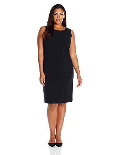 Nine West Women's Plus Size Belted Sheath Dress