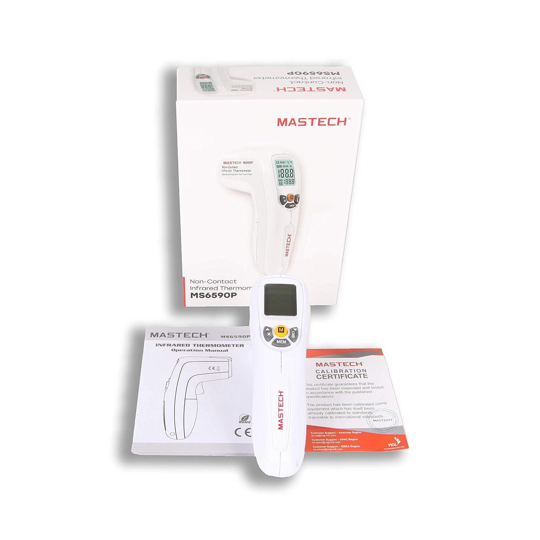 Mastech MS6590P Infrarot-Thermometer//kontaktlos//f/ür Menschliche Temperatur Messungen von 32/°C bis 42/°C Genauigkeit 0,2/ºC