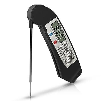 Termometro de Cocina, ZOETOUCH Termometro de Comida Digital Lectura Instantánea 4 Segundos Inoxidable de Alimentos