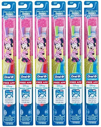 Oral B Cepillo De Dientes Para Niños, Pro-Health Stages Mickey & Minnie Mouse