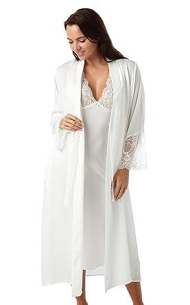 88185ca077 Ladies Luxury Ivory Crepe Bridal Negligee and Nightdress Set. Sizes 8 10 12  14 16