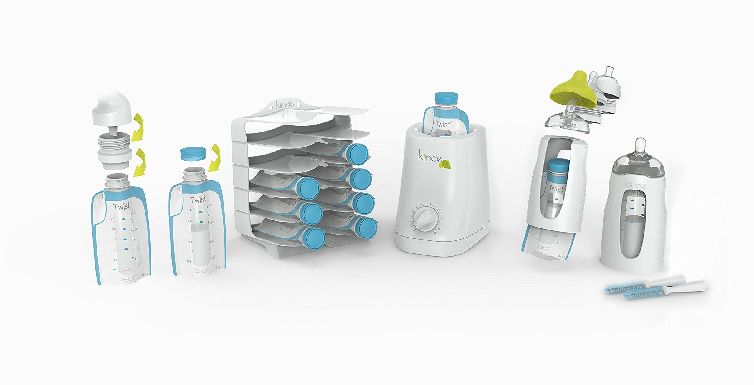 Kiinde Twist Breast Milk Storage Bag Baby Feeding System and Warmer Gift Set, New Mom Gift by Kiinde