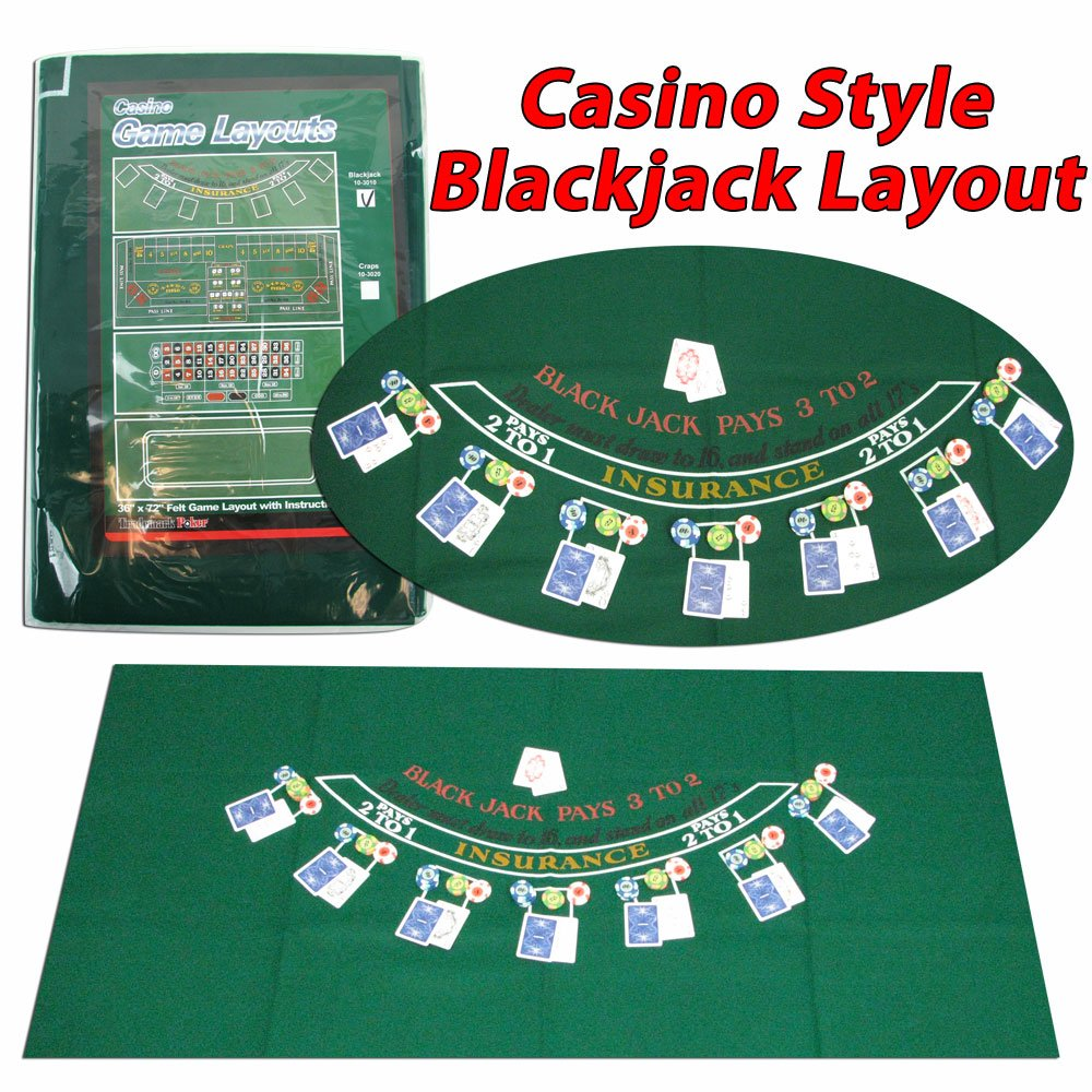 Blackjack table top view - Amazon Com Trademark Poker Blackjack Layout 36 X 72 Inch Blackjack Table Felt Sports Outdoors