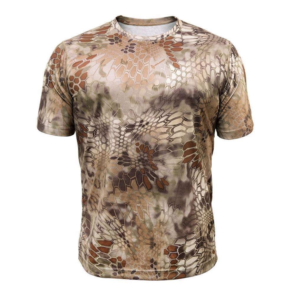 KryptekメンズHyperion Tシャツ半袖ポリエステル B00TILZSOA Medium|Highlander Highlander Medium