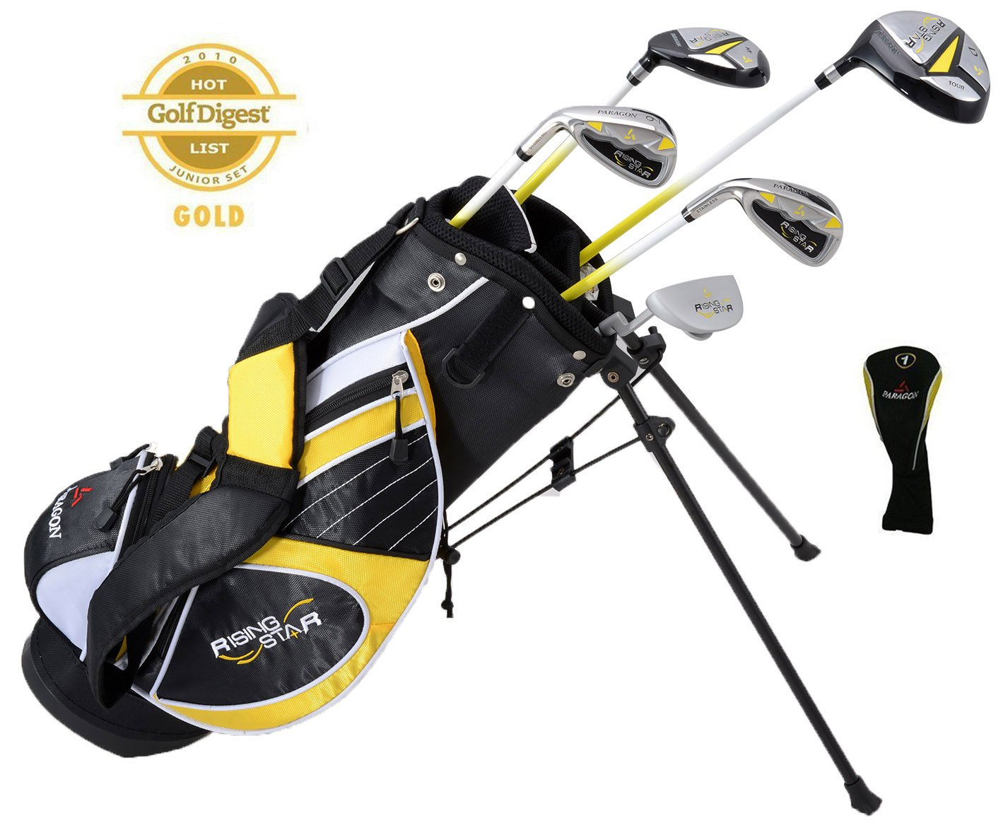 Paragon Rising Star Kids Golf Clubs Set / Ages 5-7 Yellow With Hat / Left-Hand by Paragon (Image #1)