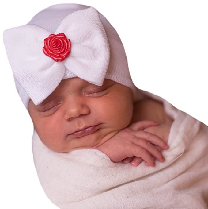 0706e13b728 Image Unavailable. Image not available for. Color  Melondipity Rosey Big  Bow Girl Newborn Hospital Hat
