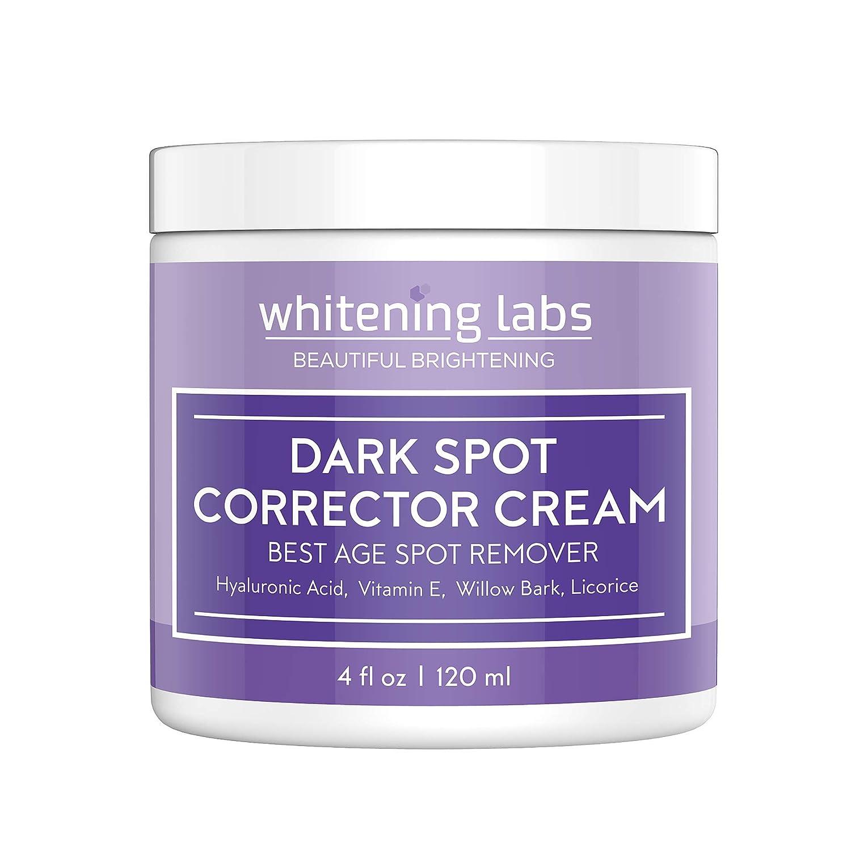 Dark Spot Corrector Best Dark Skin Age Spot Diminisher for Face, Hands, Body No Hydroquinone 4 oz